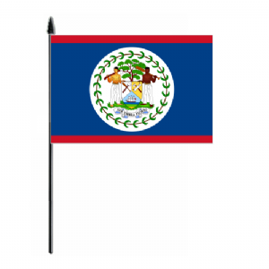 Belize Country Hand Flag - Medium